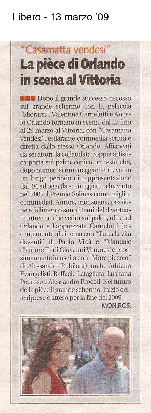 Valentina Carnelutti- 13 03 09 Libero