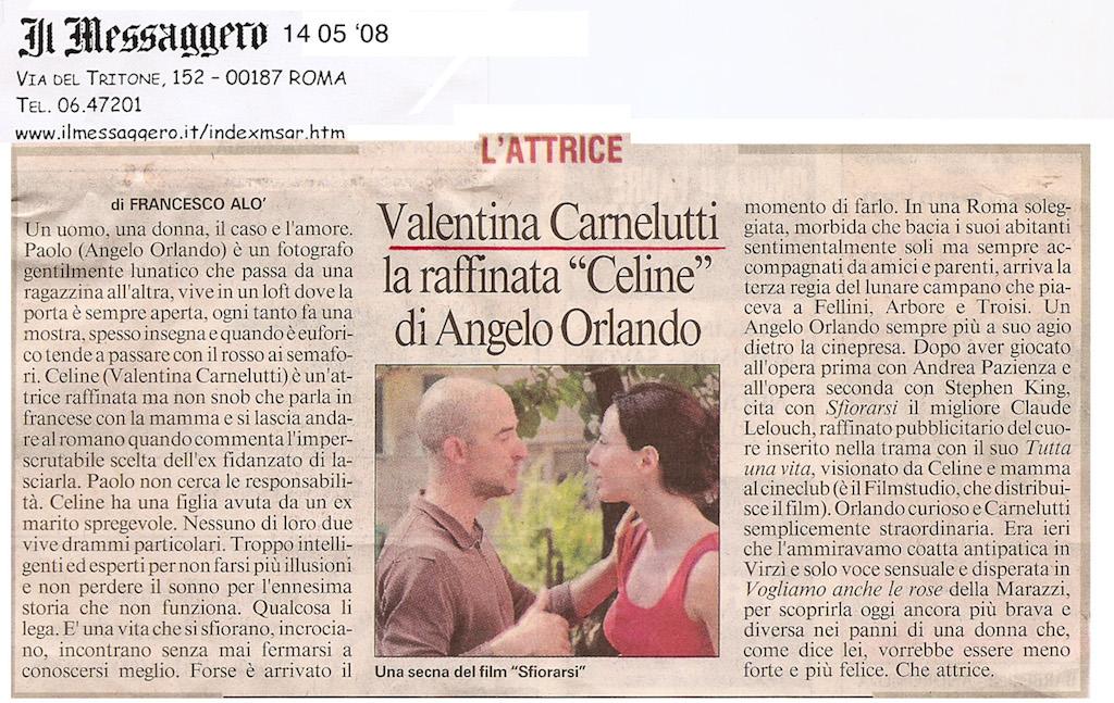 Valentina Carnelutti- 14 05 08 IL MESSAGGERO