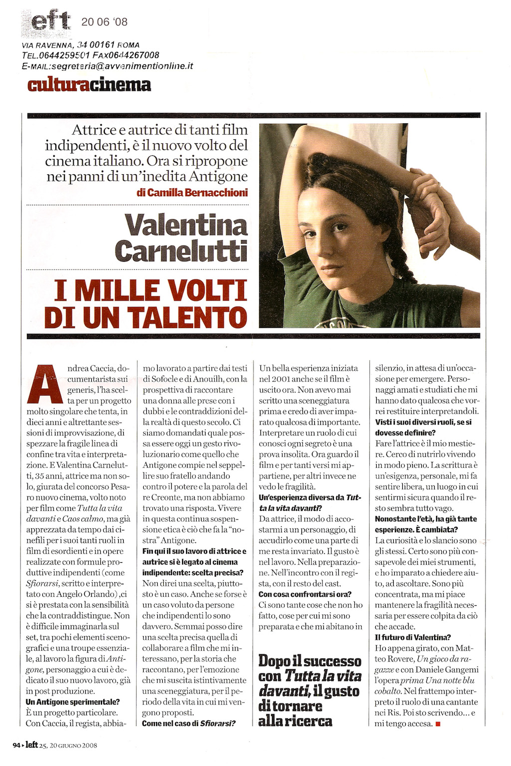 Valentina Carnelutti- 20 06 08 LEFT
