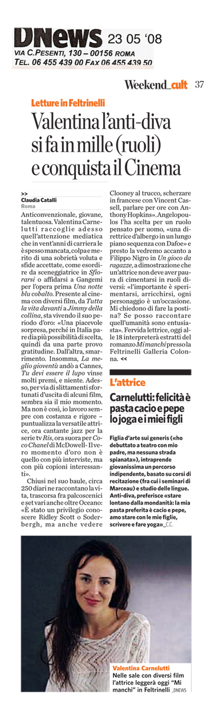 Valentina Carnelutti- 23 04 08 DNEWS