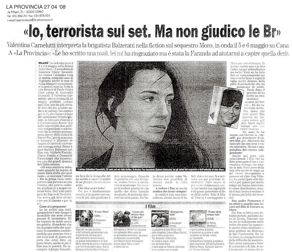 Valentina Carnelutti- 27 04 08 LA PROVINCIA